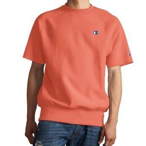 Brand New - Reverse Weave Short Sleeve Sweatshirt